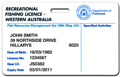 recreational fishing licenses